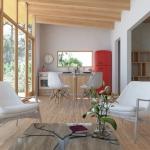 Render Habitacional Unihue Interior