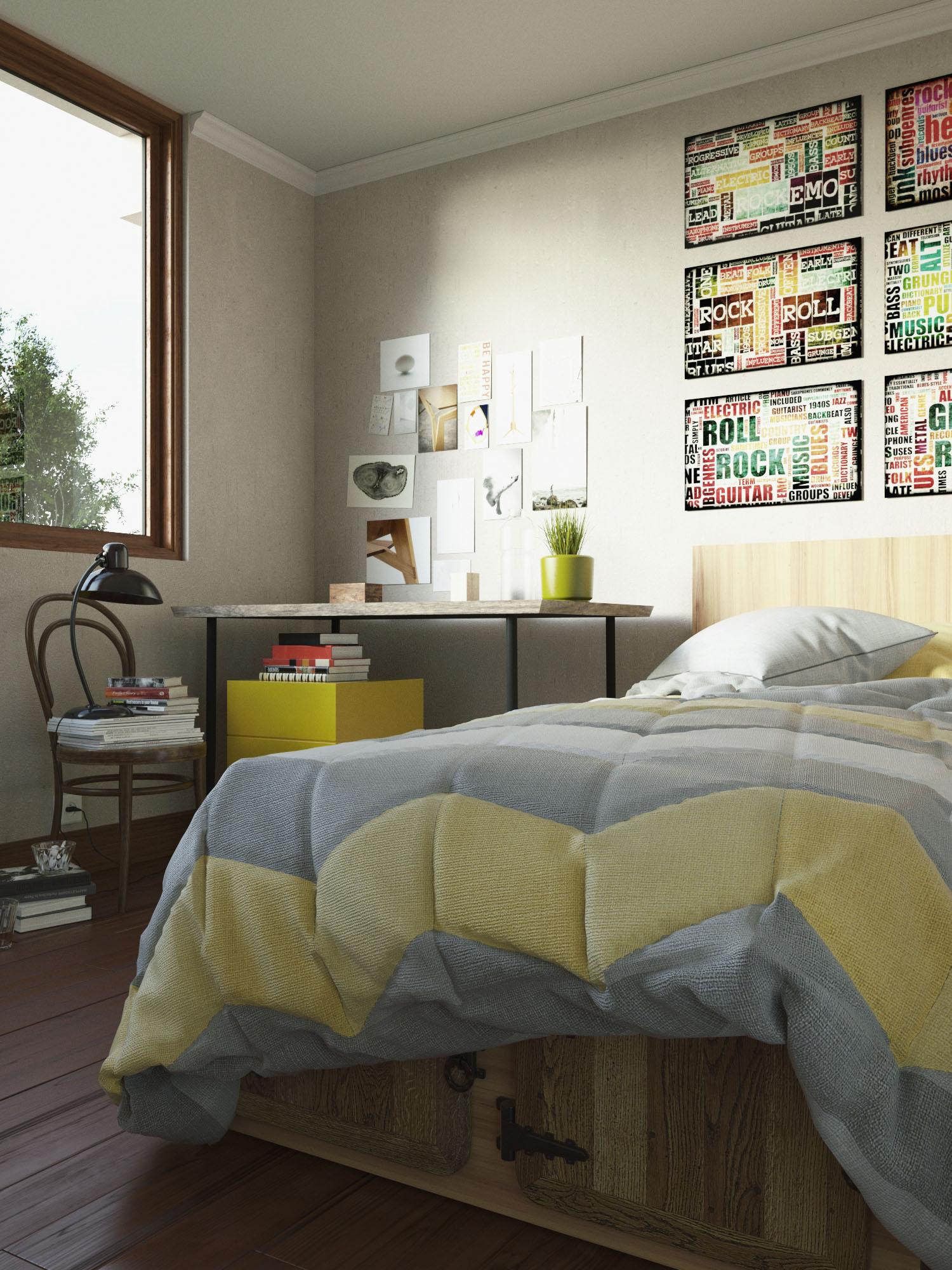 Render Dormitorio Condominio La Estancia